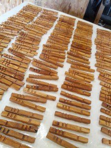Clothespins drying