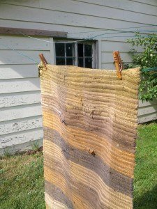 Kevin's Quality Clothespins on the line holding heavy rug
