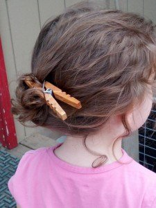 Hair Holder with Clothespin
