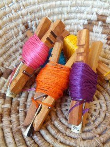 clothespin thread organizer