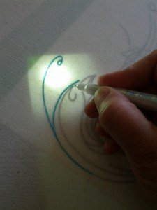 Transferring a pattern using a DIY light table