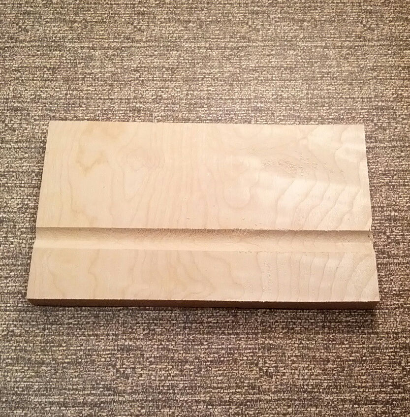 First groove in clothespin blank