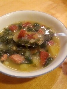 My Favorite Soup: Rustic Potato and Kale Soup
