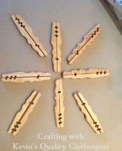 Clothespin Snowflake Craft Setup