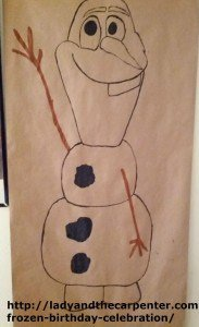 Drawing Olaf