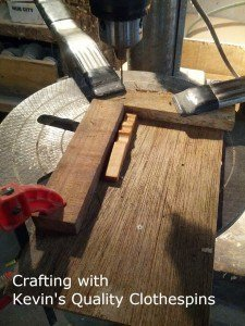 Drilling holes for Clothespin Trivet