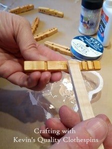 Gluing halves for snowflake craft