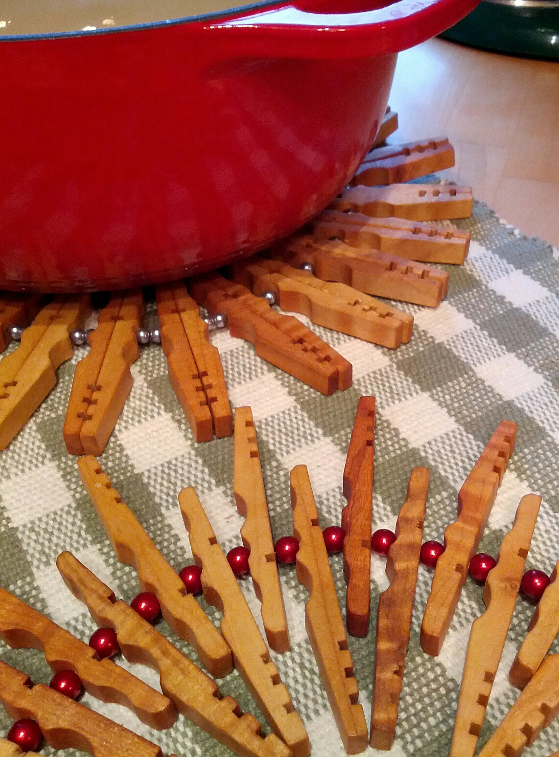Clothespin Trivet From Kevins Quality Clothespins