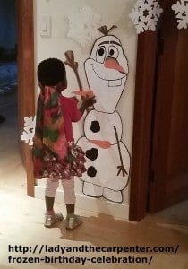 Pin nose on Olaf Game