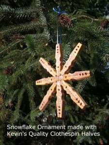 Clothespin Snowflake Craft
