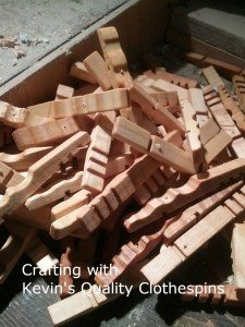 holes drilled for Clothespin Trivet