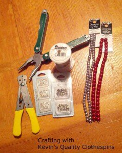 supplies for Clothespin Trivet