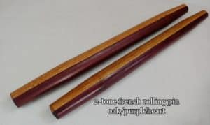 Oak and purple heart rolling pin for sale
