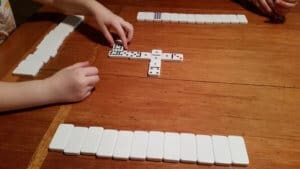 Playing Blind Hughie Dominoes