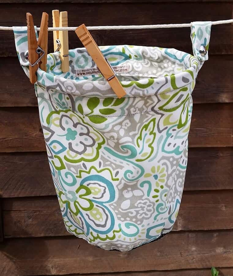 Clothes line bag floral