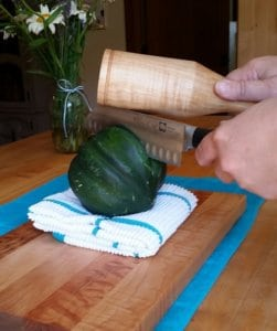 Wood mallet and squash